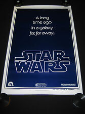 STAR WARS 1977 * STYLE B ADVANCE TEASER BOOTLEG ONE SHEET MOVIE POSTER * ROLLED!