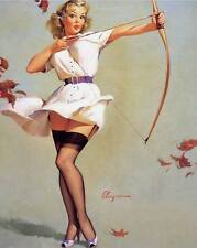Vintage GIL ELVGREN Pinup Girl QUALITY CANVAS PRINT Poster Sexy Archer A4