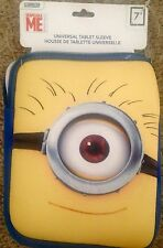 "NEW! Despicable ME MINION 7"" Universal Tablet Sleeve tablets, e-readers, laptops"