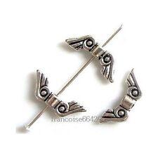 25 Intercalaires spacer Ailes d'ange 6x16x2.5mm Perles apprêts créat bijoux A260
