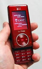 LG Cherry Chocolate VX8500 Verizon Wireless Cell Phone RED camera bluetooth -C