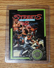 Rare & Collectible 1993 TEAM BLOCKBUSTER #49 Streets of Rage Game Card -NearMint