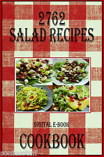 2762 Delicious Salad Recipes E-Book Cookbook  CD-ROM