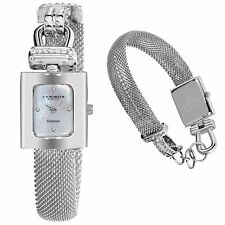 NEW Akribos XXIV AK510SS Women's Mesh Wrap-around Diamond Accented Quartz Watch