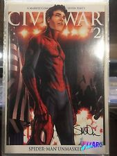 CIVIL WAR 2006 #2 MICHAEL TURNER VARIANT SIGNED BY STEVE MCNIVEN WITH COA! NM
