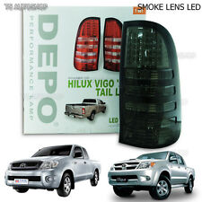 Rear Back Smoke Tail Lamp Light Kun Led Light Toyota Hilux Sr Vigo Mk6 Ute 05-14