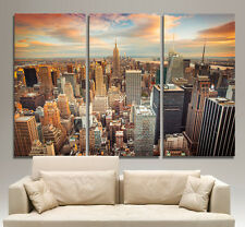 New York City Skyline Canvas Print Wall Home Art Prints Colorful Picture