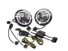 """1 Satz 7"""" LED Scheinwerfer Standlichtring Abblend und Fernlicht LED VW Jeep Ford"""