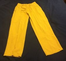 Men's Koman Yellow Linen Cotton Drawstring Waist Pants Size Small beb