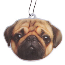 Pug Face Car Air Freshener - Hanging Fresh Scented Card - Pugs n Kisses