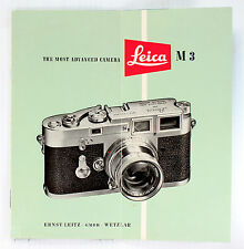 Original Leica Sales Brochure for M3 - printed October 1955 - 8 pages