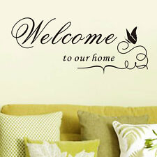 Welcome to our home Art Wall Sticker Quote Words Decal Vinyl Mural Decor