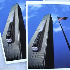 NYC WTC World Trade Center 2 Postcard Lot Estakhrian Surreal Amtrak USA New York