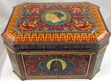 FIVE CONTINENTS BISCUIT TIN GERMANY c1895 EUROPA AMERIKA AFRIKA ASIEN AUSTRALIEN