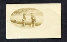 C1920's Photo Card of Two Young Boys