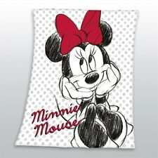 Decke Minnie Mouse Maus weiß Fleecedecke 130x160 cm Disney