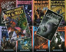 Bundle-9 x SHADOWRUN-READER WELTENBUCH + Galaktische Odyssee-Science-Fiction-neu