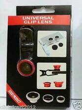 Universal Fish-Eye Wide-Angle Marco Camera Clip-On Lens For iPhone iPad HTC LG
