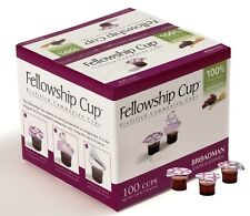 BRAND NEW -COMMUNION FELLOWSHIP CUP PREFILLED JUICE / WAFER  BOX OF 100