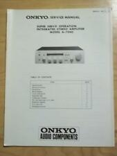 Original Onkyo Service Manual for the A-7040 Amp Amplifier~Repair