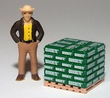 O scale pallet load of GREEN Quikrete sacks  1/43  T  ^  VERY RARE