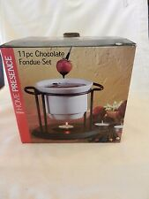 11 Piece Chocolate Fondue set From Home Presence White with black Stand