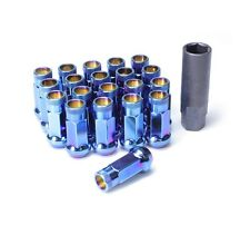 Muteki SR48 Open End Lug Nuts in Burning Blue Finish 12x1.25 | 32905UN