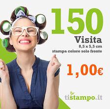 150 BIGLIETTI DA VISITA 300 GR. STAMPA FRONTE A 1 EURO