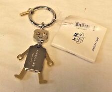 Coach Robot Key Chain / FOB  Gold & Silver Tone Movable Limbs F65429 + Dust Bag