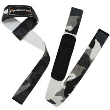 NEOPRENE-PADDED URBAN CAMO WEIGHT LIFTING STRAPS Bar Wrist Wraps MEISTER NO-SLIP
