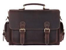 Men's Genuine Leather DSLR Camera Sleeve Bag Messenger Bag Cross Body for Nikon