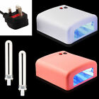 UV Lamp 36 W Light Gel Curing Timer Nail Dryer with x 9W Blubs UK PLUG Fused