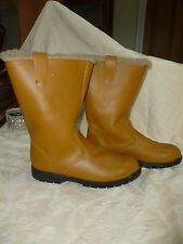 Equitector WOOL LINED  LEATHER YARD BOOT  Brand New* RP £250 MADE IN ENGLAND