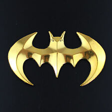 GOLD 3d LOGO IN METALLO BAT DECALCOMANIA STICKER EMBLEM BADGE Nuovo Gecko SPIDER UK STOCK