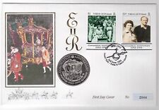 TURKS AND CAICOS ISLANDS – 5 CROWNS UNC COIN 1993 YEAR KM#108 FDC CORONATION