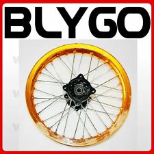 "GOLD 90/100 - 14"" Inch Alloy Rear Back Wheel Rim PIT PRO Trail Bigfoot Dirt Bike"