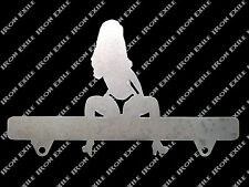 Sexy Lady License Plate Frame Topper G String Thong Bikini Hot Rat Rod Metal