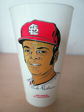 1972 7-ELEVEN MLB BASEBALL SLURPEE CUP. BOB GIBSON, ST. LOUIS CARDINALS.