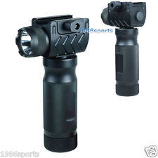 Hunting  Foregrip Vertical Grip w/ High Power CREE LED Flashlight QR Rail #50