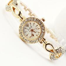 Luxury Gold Women Bling Watches Crystal Bracelet Fashion Wristwatches Small Dial