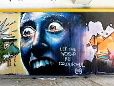 ART PRINT POSTER PHOTO GRAFFITI MURAL STREET MAD EYE WORLD NOFL0253