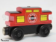 THOMAS the TRAIN Wooden Railway MAIN SODOR LINE CABOOSE Rare Learning Curve 2003