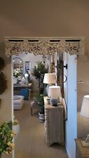 Above door shelf bed canopy crown wood carved floral detail shabby chic