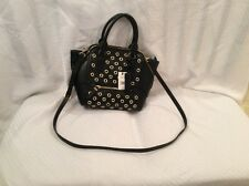 NWT Nine West Satchel Carry Handbag. Color Black With Gold Eyelets....**cute**