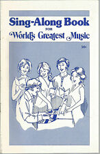 Sing-Along Book For World's Greatest Music Sight & Sounds Systems SC