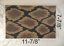 "Kydex Infused Tan Snake Skin Print  Approx 11 7/8"" x 7 7/8"" 1 Sheet"
