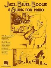 JAZZ, BLUES, BOOGIE, & SWING FOR PIANO MUSIC BOOK
