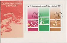 (H2-158) 1982 AU M/S XII Commonwealth Games (AN) large envelope