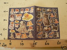 STICKER,DECAL HONDEN & POEZEN DOGS AND CATS SHEET WITH STICKERS MARGRIET 39 1994