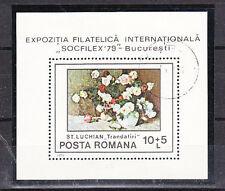 v514 Rumänien/ Blumen   MiNr Block 159 o